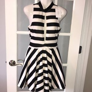 AUDITIONS black and white cutout dress
